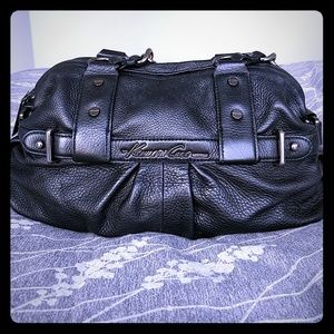 Kenneth Cole black leather bag